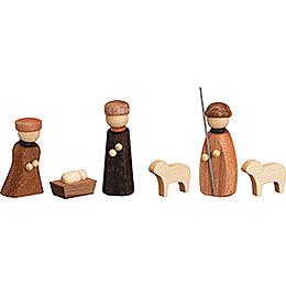 Nativity, 6 - teilig  -  7cm / 2.8inch