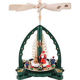 1 - Tier Pyramid  -  Santa Claus  -  27cm / 11 inch