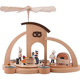 1 - stöckige Pyramide Bäckerei, für Teelichter  -  27cm