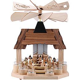 1 - stöckige Pyramide Engel mit zwei gegenläufigen Flügelrädern  -  41cm