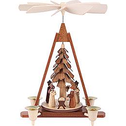 1 - stöckige Weihnachtspyramide  -  Christi Geburt  -  29cm