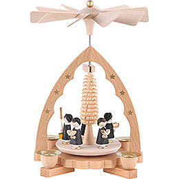 1 -  tier Pyramid Carolers  -  7 inch  -  19cm