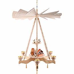 2 - st�ckige Deckenpyramide Weihnachtsmarkt  -  55x85cm