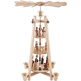 3 - stöckige Pyramide Christi Geburt  -  44cm