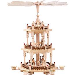 3 - stöckige Pyramide Krippenszene  -  41cm