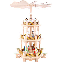 3 -  tier Pyramid Nativity Scene painted  -  16 inch  -  40cm