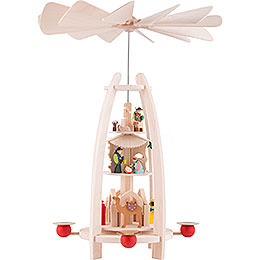 3 - tier pyramid Nativity  -  35cm / 13.7inch