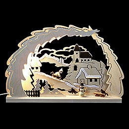 3D Candle Arch  -  Sleigh Ride  -  41x27x4,5cm / 16x11x1.7 inch