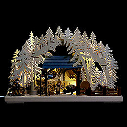 3D Candle Arch Stables by Ratags  -  43x30cm / 17x12inch