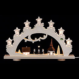 3D - Candle arch 'Carolers'  -  52x32x6cm / 20x13x2.3inch