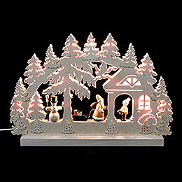 3D - Double - Arch  -  Gift Giving  -  42x30x4,5cm / 16x12x2 inches