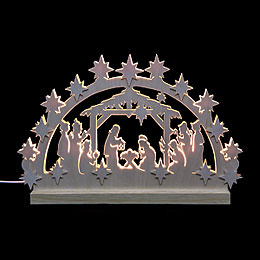 3D - Double - Arch  -  Nativity  -  42x30x4,5cm / 16x12x2 inches