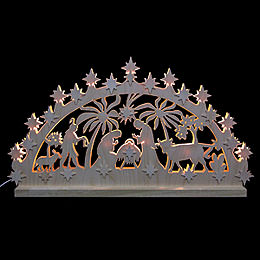 3D - Double - Arch  -  Nativity Motif  -  72x40x5,5cm / 28x16x2 inches
