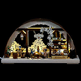3D Double Arch  -  Wine Cellar  -  43x30x7cm / 17x12x3 inch