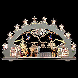 3D Light Arch  -  Old Town Christmas Fair  -  66x40x11cm / 4.3 inch
