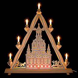 3D Light Triangle  -  Dresden's Church of Our Lady  -  50x55cm / 20x22 inch