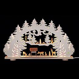 3D - Schwibbogen Waldlichtung  -  66x40x8,5cm