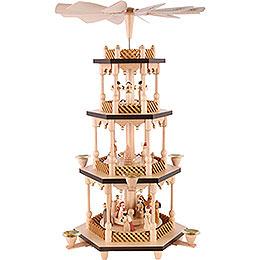 4 - Tier Pyramid  -  Nativity Scene  -  54cm / 21 inch