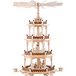 4 - stöckige Pyramide  -  Krippenszene  -  51cm