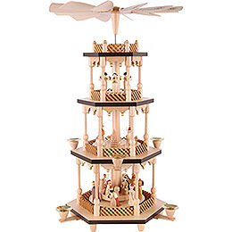 4 -  tier Pyramid Nativity Scene  -  21 inch  -  54cm