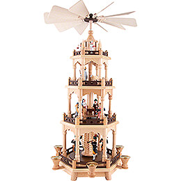 4 - tier pyramid miners  -  58cm / 22.8inch