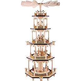 5 - tier pyramid Nativity scene  -  70cm / 27.5inch