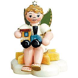 Angel boy with train  -  6,5cm / 2,5inch