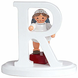 "Angel letter ""R""  -  7cm / 2.8inch"