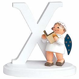 "Angel letter ""X""  -  7cm / 2.8inch"