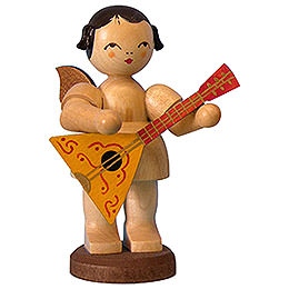 Angel with Balalaika  -  Natural Colors  -  Standing  -  9,5cm / 3,7 inch