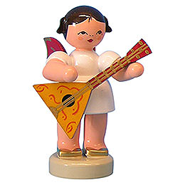 Angel with Balalaika  -  Red Wings  -  Standing  -  6cm / 2,3 inch