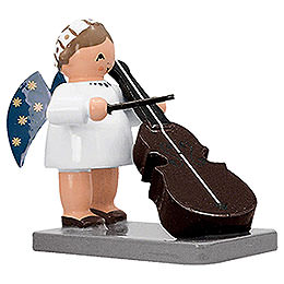 Angel with Bass   -  5cm / 2 inch