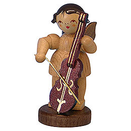 Angel with Cello  -  Natural Colors  -  Standing  -  6cm / 2,3 inch