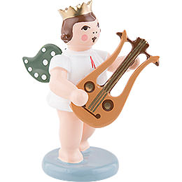 Angel with Crown and Lyre Guitar  -  6,5cm / 2.5 inch