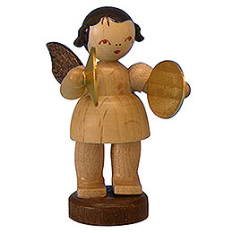 Angel with Cymbal  -  Natural Colors  -  Standing  -  6cm / 2,3 inch