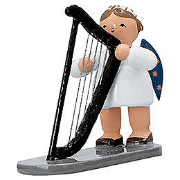 Angel with Harp   -  5cm / 2 inch