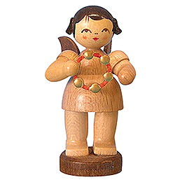 Angel with Jingle Ring  -  Natural Colors  -  Standing  -  6cm / 2,3 inch