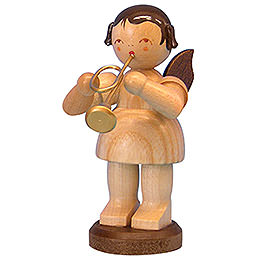 Angel with Trumpet  -  Natural Colors  -  Standing  -  9,5cm / 3,7 inch