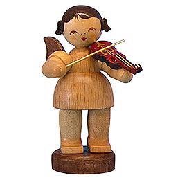 Angel with Violin  -  Natural Colors  -  Standing  -  6cm / 2,3 inch