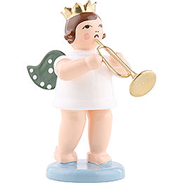 Angel with crown and jazz trumpet  -  6,5cm / 2.5inch