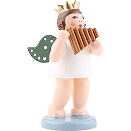 Angel with crown and panpipe  -  6,5cm / 2.5inch