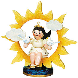 Angel with sun and doves  -  6,5cm / 2,5inch