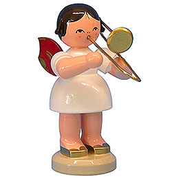 Angel with trombone  -  Red Wings  -  standing  -  9,5cm / 3,7 inch