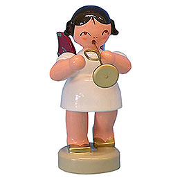 Angel with trumpet  -  Red Wings  -  standing  -  6cm / 2,3 inch