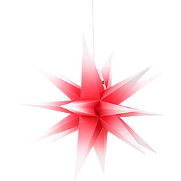 Annaberg folded star red - white  -  70cm / 27.6inch