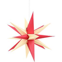 Annaberger Faltstern mit rot - gelben Spitzen  -  70cm