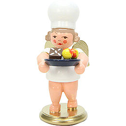 Bäckerengel mit Weihnachtsteller  -  7,5cm