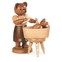 Bärenmutter mit Kind  -  10cm