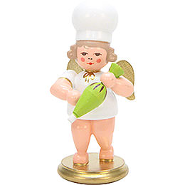 Baker angel with cornet  -  7,5cm / 2.8inch