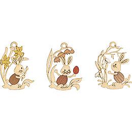 Baumschmuck Stupsi mit Blumen 6 - er Set  -  6,5cm